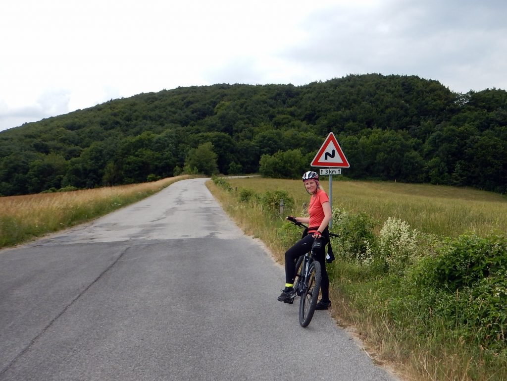 Elektrobicykel na kopci