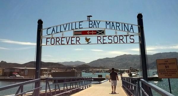 Callvile Bay Marina Resort je prístav v púšti na rieke Colorado.